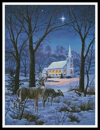 A Midnight Clear by Artecy printed cross stitch chart